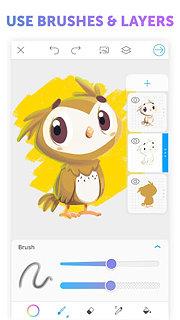 PicsArt Color Paint - snímek obrazovky