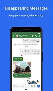 Signal Private Messenger - snímek obrazovky