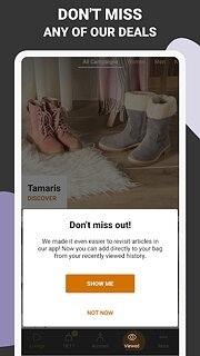 Zalando Lounge - Shopping Club - snímek obrazovky