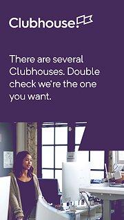 Clubhouse - snímek obrazovky