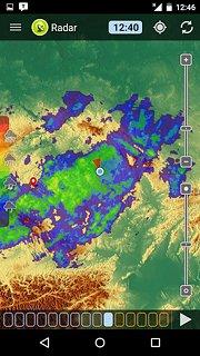 Meteor (Weather) » Meteoradar - snímek obrazovky