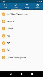 QRbot: QR code reader and barcode reader - snímek obrazovky