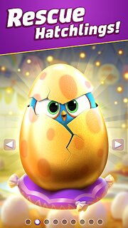 Angry Birds Match 3 - snímek obrazovky