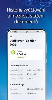 Moje O2 - snímek obrazovky