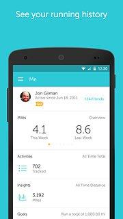 RunKeeper - GPS Track Run Walk - snímek obrazovky