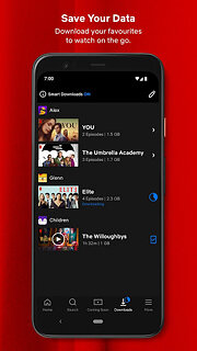 Netflix - snímek obrazovky