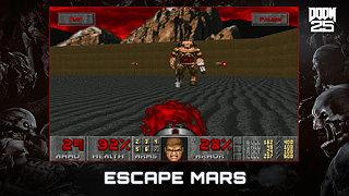 DOOM - snímek obrazovky