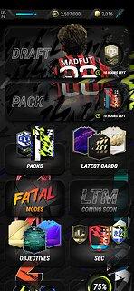 MAD FUT 22 Draft & Pack Opener - snímek obrazovky