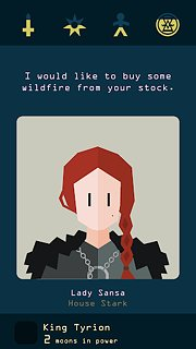 Reigns: Game of Thrones - snímek obrazovky