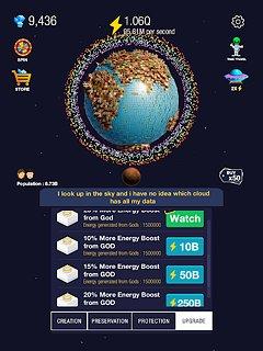 Idle World ! - snímek obrazovky