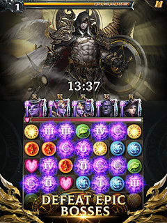 Legendary Game of Heroes: Match-3 RPG Puzzle Quest - snímek obrazovky
