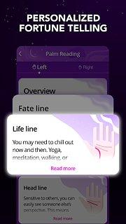 Astrology horoscope, palm reader, tarot: Astroline - snímek obrazovky