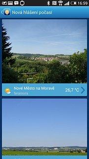 Meteoradar In-počasí - snímek obrazovky