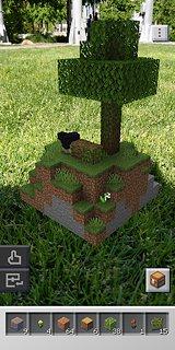 Minecraft Earth - snímek obrazovky