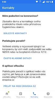 eRouška - part of smart quarantine - snímek obrazovky