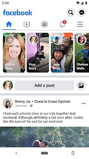 Facebook - snímek obrazovky