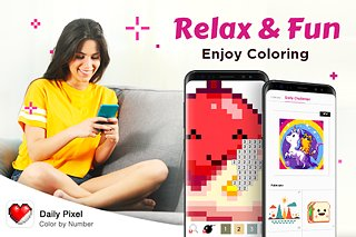 Daily Pixel – Color by Number, Coloring Book Free - snímek obrazovky