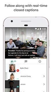 Google Meet – Secure video meetings - snímek obrazovky