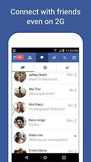 Facebook Lite - snímek obrazovky