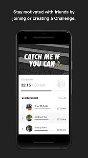 Nike Run Club - snímek obrazovky