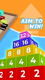 Chain Cube: 2048 3D merge game - snímek obrazovky