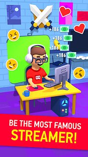 Idle Streamer tycoon game - snímek obrazovky