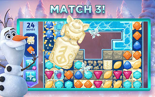 Disney Frozen Adventures: A New Match 3 Game - snímek obrazovky