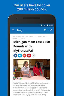 Calorie Counter - MyFitnessPal - snímek obrazovky