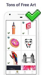 Pixel Art - Colour by Number - snímek obrazovky
