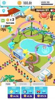 Idle Roller Coaster - snímek obrazovky