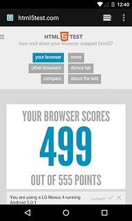 Android System WebView - snímek obrazovky