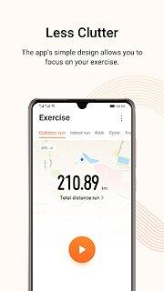 Huawei Health - snímek obrazovky
