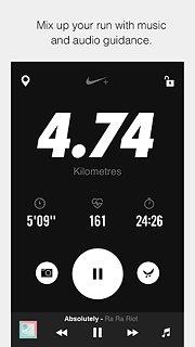 Nike+ Run Club - snímek obrazovky