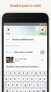 Email.cz - snímek obrazovky