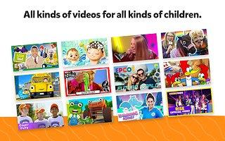 YouTube Kids - snímek obrazovky