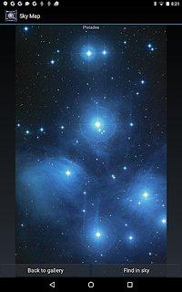 Sky Map - snímek obrazovky