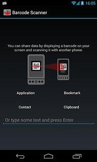 Barcode Scanner - snímek obrazovky