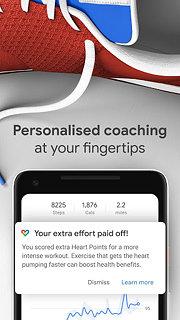 Google Fit: Health and Activity Tracking - snímek obrazovky