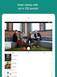 Google Meet - snímek obrazovky