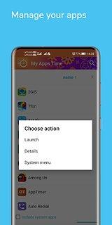 My Apps Time - App usage manager & Phone time - snímek obrazovky
