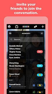 Houseparty - snímek obrazovky