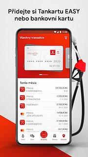 Benzina aplikace - snímek obrazovky