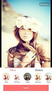 Selfie Camera - Filter & Sticker & Photo Editor - snímek obrazovky