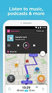 Waze - GPS, Maps, Traffic Alerts & Live Navigation - snímek obrazovky