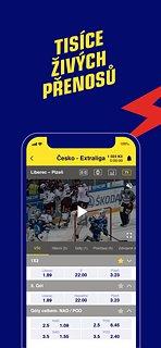 SazkaBET - snímek obrazovky