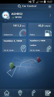 O2 Car Control - snímek obrazovky