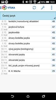 Bakaláři - oficiální aplikace - snímek obrazovky