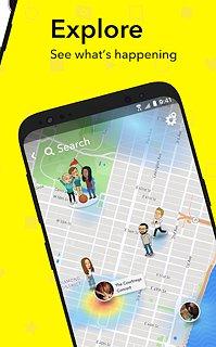 Snapchat - snímek obrazovky