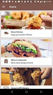 KFC CZ - snímek obrazovky