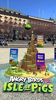 Angry Birds AR: Isle of Pigs - snímek obrazovky